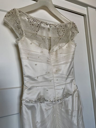 Augusta Jones White Silk Exquisite Detail Formal Wedding Dress Size 4 (S) Image 5