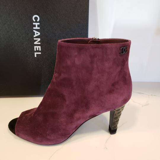 Chanel Knee High Riding Ascot Burgundy Boots Image 1