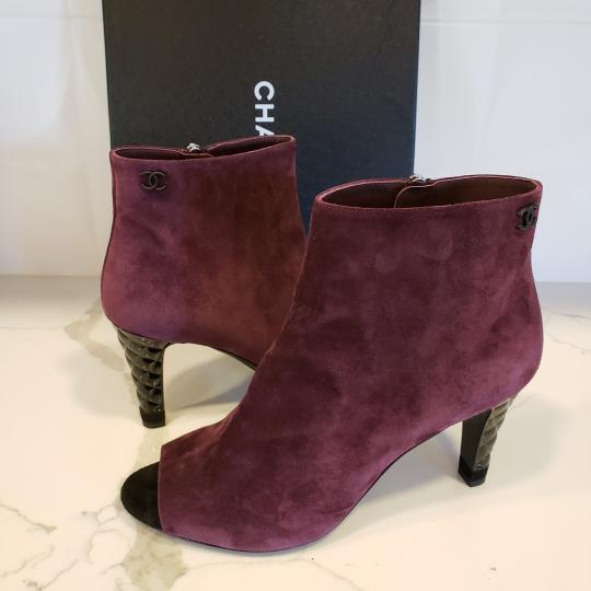 Chanel Knee High Riding Ascot Burgundy Boots Image 10