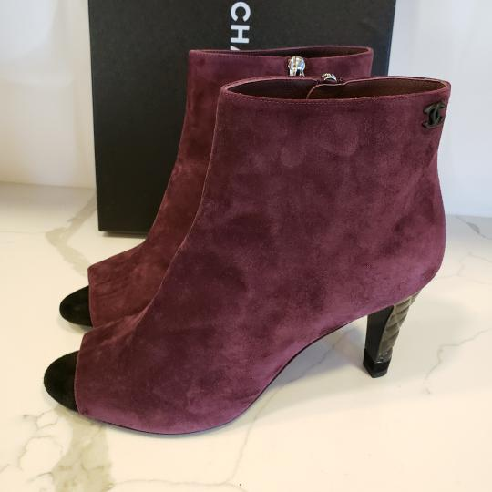 Chanel Knee High Riding Ascot Burgundy Boots Image 11