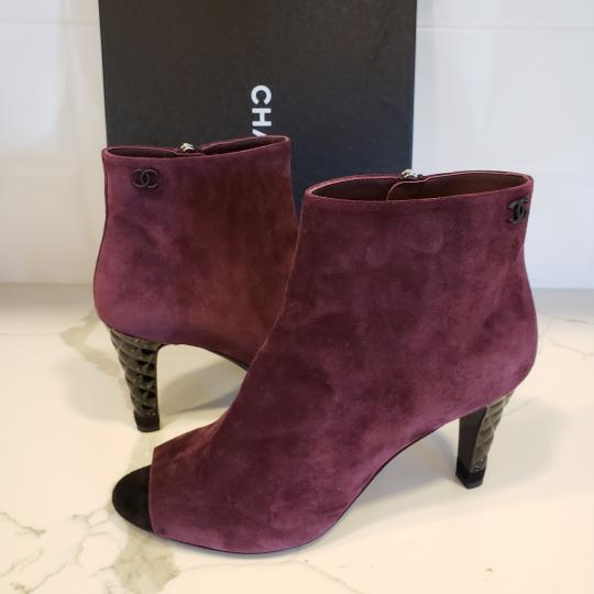 Chanel Knee High Riding Ascot Burgundy Boots Image 3