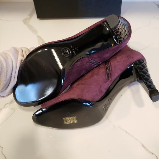 Chanel Knee High Riding Ascot Burgundy Boots Image 4