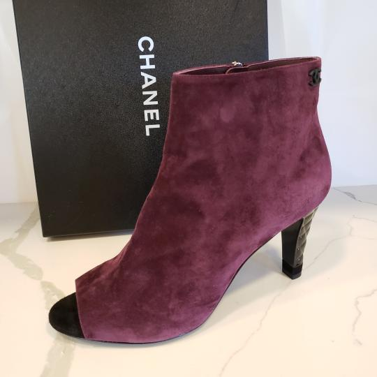 Chanel Knee High Riding Ascot Burgundy Boots Image 7