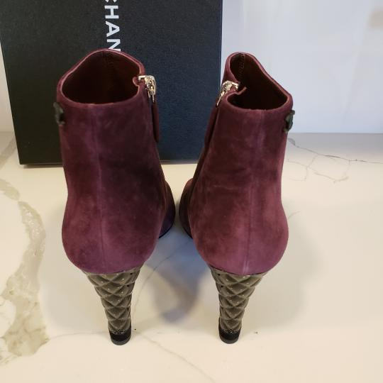 Chanel Knee High Riding Ascot Burgundy Boots Image 8