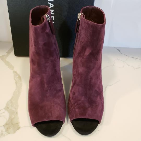 Chanel Knee High Riding Ascot Burgundy Boots Image 9