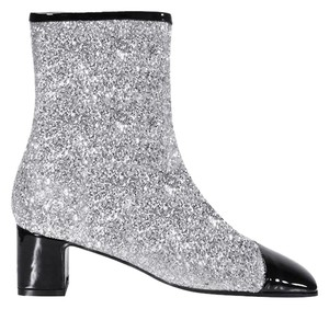 6ea1b7a952ef Chanel Glitter Milky Way Fabric Bronze Silver Black Boots