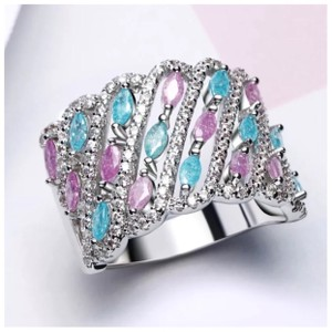 ME Boutiques Private Label Collection Swarovski Crystals The Maraja Pixie Band Ring Size 7 S2