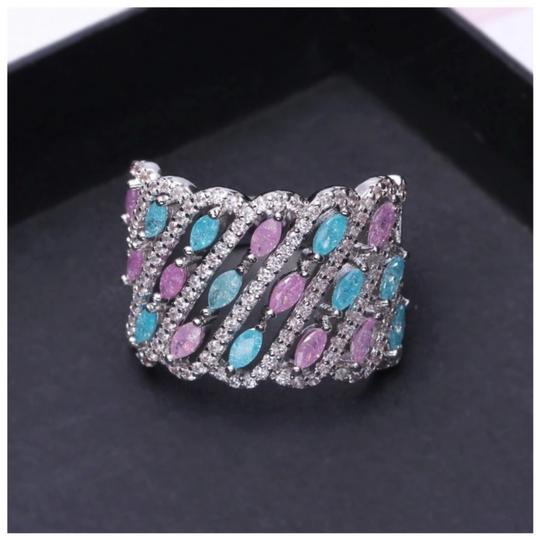 ME Boutiques Private Label Collection Swarovski Crystals The Maraja Pixie Band Ring Size 7 S2 Image 2
