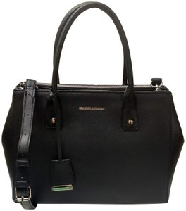 98bd3ea062275 New York & Company Removable Strap Faux Leather Side Clasps Magnetic Flap  Satchel in Black