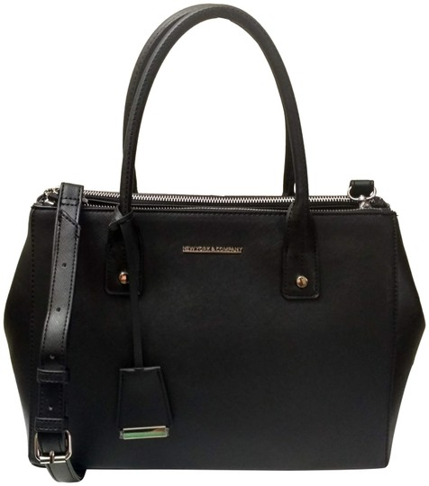 Preload https://img-static.tradesy.com/item/24847249/new-york-and-company-companyny-and-c-gramercy-with-adjustable-strap-black-faux-leather-satchel-0-1-540-540.jpg