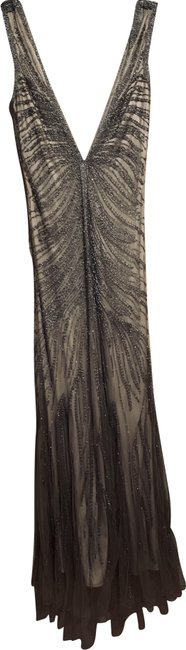 Preload https://img-static.tradesy.com/item/24847268/silver-beaded-with-nude-lining-long-formal-dress-size-8-m-0-1-650-650.jpg