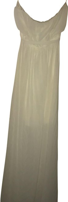 Ya Los Angeles White Strapless Long Casual Maxi Dress Size 8 (M) Ya Los Angeles White Strapless Long Casual Maxi Dress Size 8 (M) Image 1