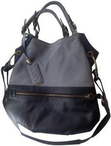 orYANY Brushed Hardware Shoulder Strap Tote in gray and black
