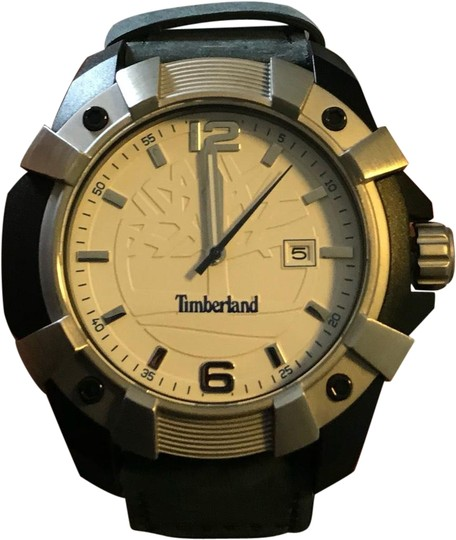 Preload https://img-static.tradesy.com/item/24847302/timberland-multicolor-new-men-s-chocorua-black-leather-white-detail-strap-tbl13326-watch-0-1-540-540.jpg
