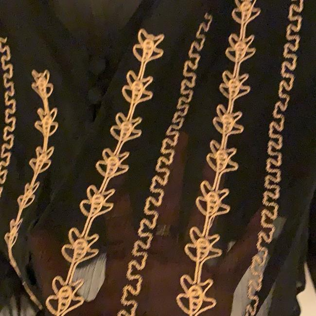 Band of Gypsies Top black with gold Image 3