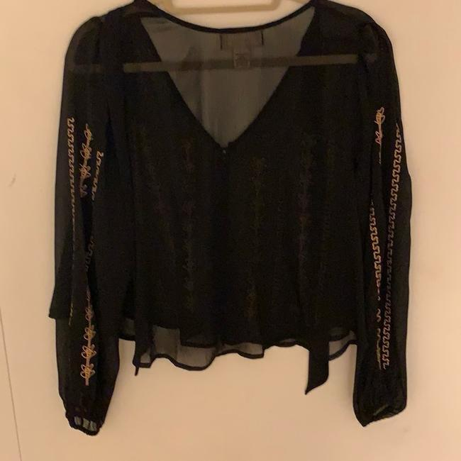 Band of Gypsies Top black with gold Image 6