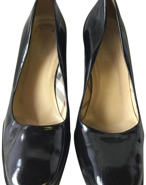 Burberry Black Patent Leather Square Pumps Size EU 38 (Approx. US 8) Regular (M, B) Burberry Black Patent Leather Square Pumps Size EU 38 (Approx. US 8) Regular (M, B) Image 1