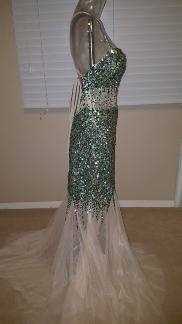 Camille la Vie Mermaid Sequin Gown Sequin Prom Gown Dress Image 1