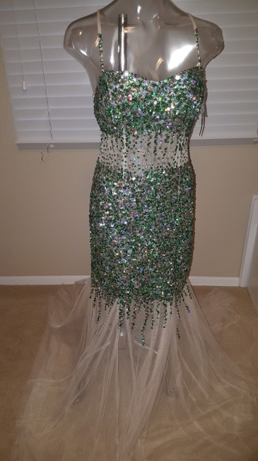 Camille la Vie Mermaid Sequin Gown Sequin Prom Gown Dress Image 10