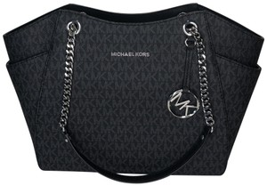 Michael Kors Chain Tote Navy Leather Matching Set Shoulder Bag