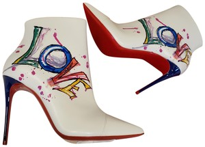 Christian Louboutin Stiletto So Kate Love White Boots