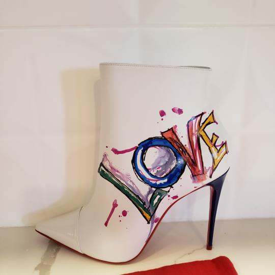 Christian Louboutin Stiletto So Kate Love White Boots Image 1