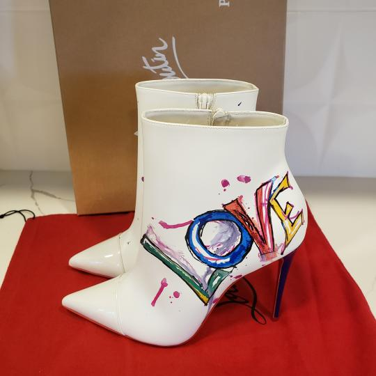 Christian Louboutin Stiletto So Kate Love White Boots Image 10