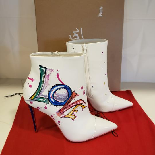 Christian Louboutin Stiletto So Kate Love White Boots Image 3