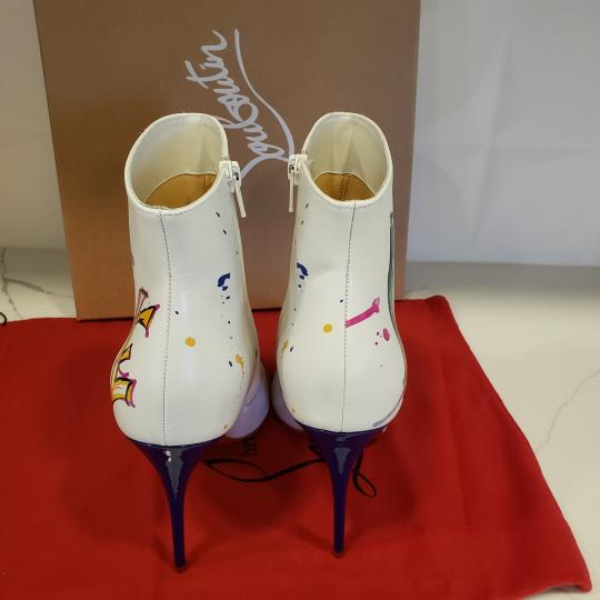 Christian Louboutin Stiletto So Kate Love White Boots Image 5