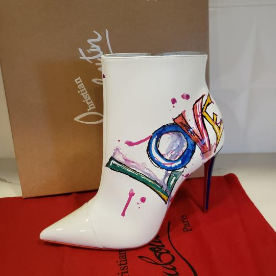 Christian Louboutin Stiletto So Kate Love White Boots Image 6