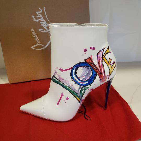 Christian Louboutin Stiletto So Kate Love White Boots Image 7