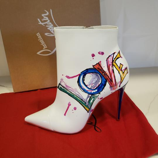 Christian Louboutin Stiletto So Kate Love White Boots Image 8