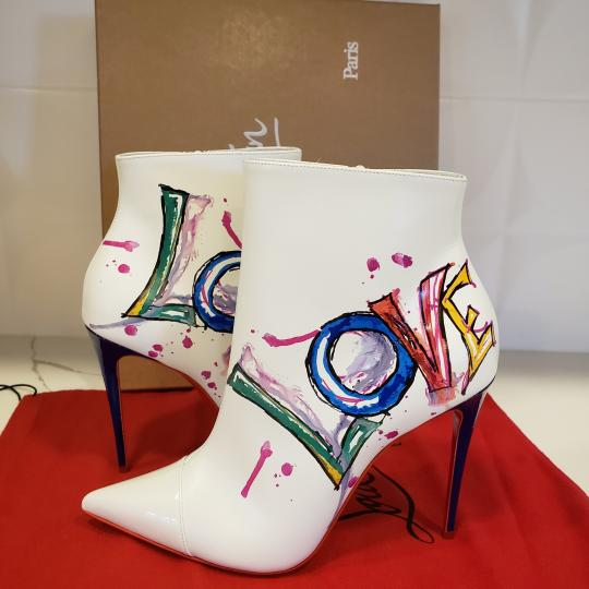Christian Louboutin Stiletto So Kate Love White Boots Image 9