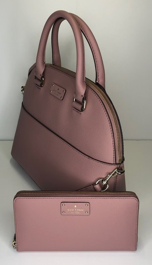 Kate Spade Carli Matching Wallet Matching Set New Satchel in Dusty Peony Image 1