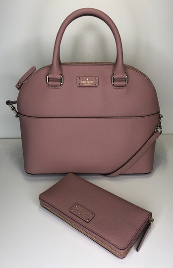 Kate Spade Carli Matching Wallet Matching Set New Satchel in Dusty Peony Image 2