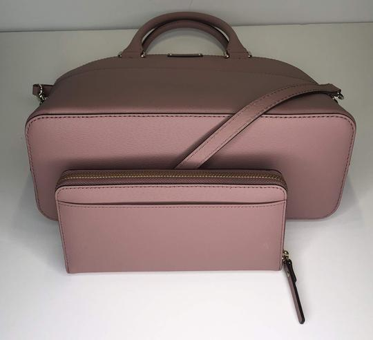 Kate Spade Carli Matching Wallet Matching Set New Satchel in Dusty Peony Image 3