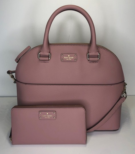 Kate Spade Carli Matching Wallet Matching Set New Satchel in Dusty Peony Image 4