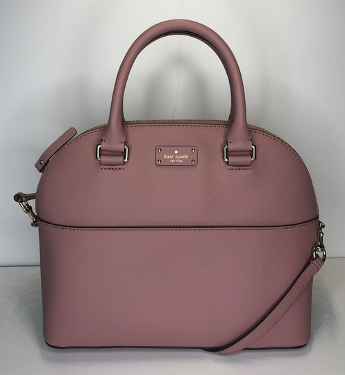 Kate Spade Carli Matching Wallet Matching Set New Satchel in Dusty Peony Image 5