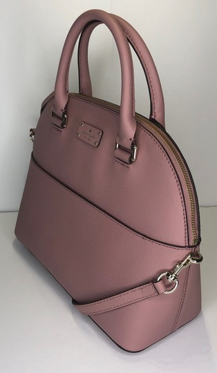 Kate Spade Carli Matching Wallet Matching Set New Satchel in Dusty Peony Image 6