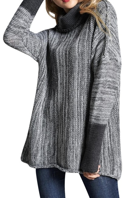 Preload https://img-static.tradesy.com/item/24847675/shein-space-dye-high-neck-multicolor-sweater-0-1-650-650.jpg