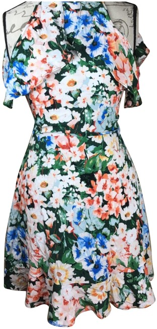 Item - Multi-color Summer Floral Short Casual Dress Size 4 (S)