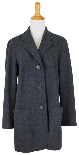 DKNY Gray Vintage Wool Overcoat Coat Size 8 (M) DKNY Gray Vintage Wool Overcoat Coat Size 8 (M) Image 1