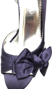 David's Bridal Bridesmaid Michael Angelo Wedding Plum - purple Pumps