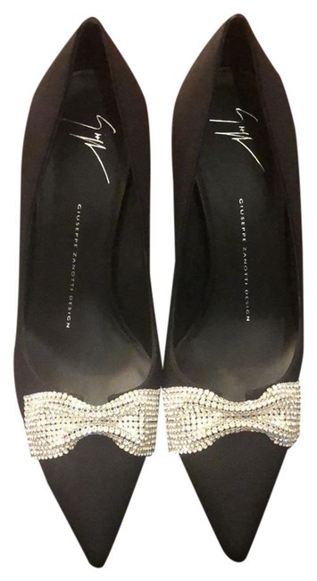 Giuseppe Zanotti Design Black with Rhinestone Pumps Size EU 39 (Approx. US 9) Regular (M, B) Giuseppe Zanotti Design Black with Rhinestone Pumps Size EU 39 (Approx. US 9) Regular (M, B) Image 1