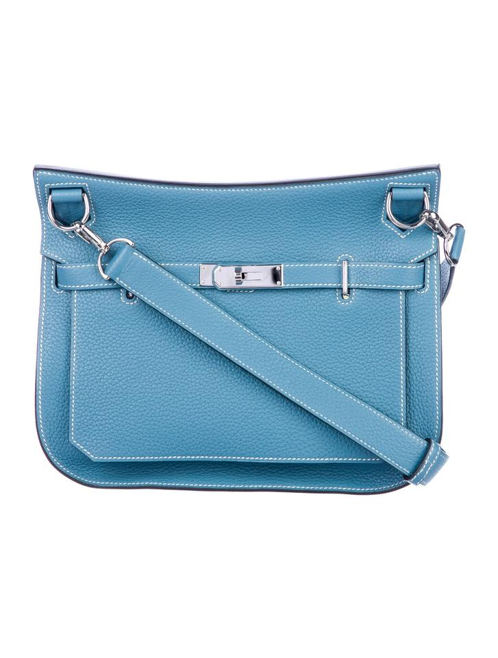 2428b7e2c3 Hermès Jypsiere 28 Blue Clemence Cross Body Bag - Tradesy