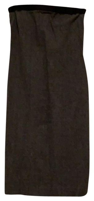 Theory Grey Strapless Mid-length Work/Office Dress Size 2 (XS) Theory Grey Strapless Mid-length Work/Office Dress Size 2 (XS) Image 1