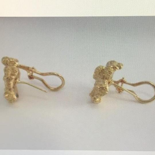 Unknown 14K Yellow Gold and Diamond Earrings Image 1