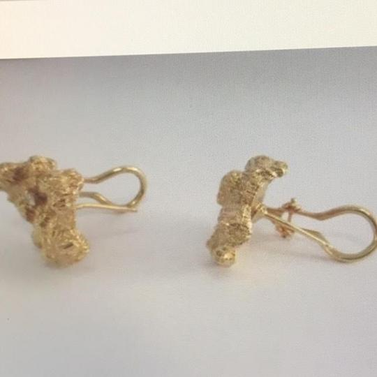 Unknown 14K Yellow Gold and Diamond Earrings Image 2