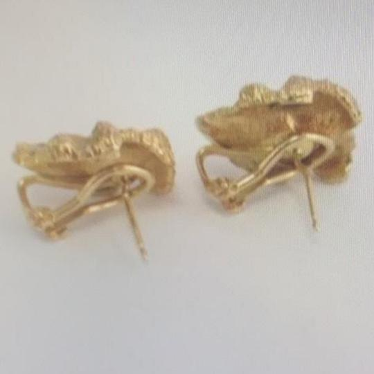 Unknown 14K Yellow Gold and Diamond Earrings Image 5