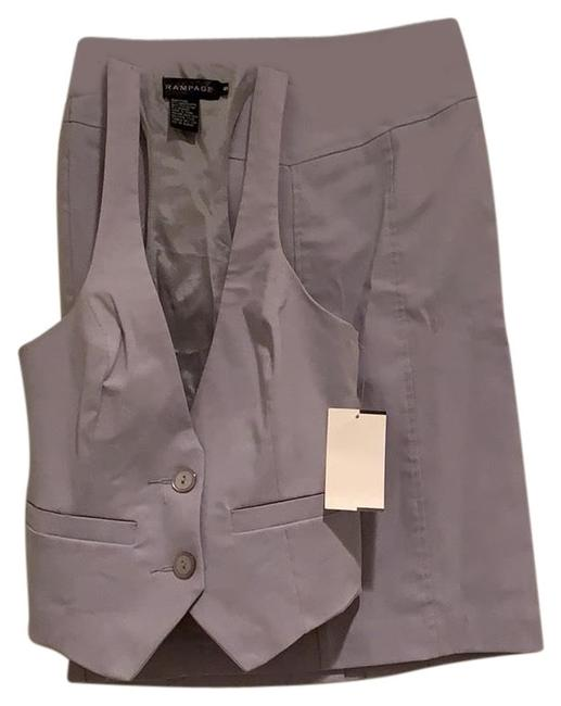 Item - Silver And Vest Skirt Suit Size 4 (S)
